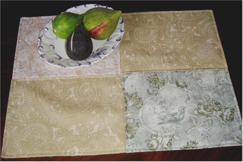 Modle patchwork set de table et sous verre odile berget - Set de table verre ...